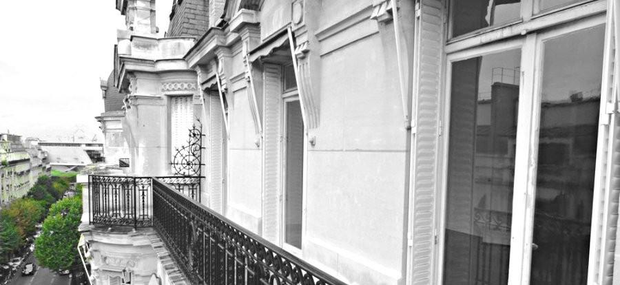 Large balcon filant au dernier étage - Foch-Malakoff
