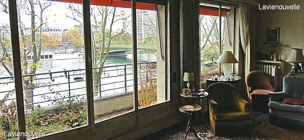 Un balcon sur la Seine - Seine pont Mirabeau